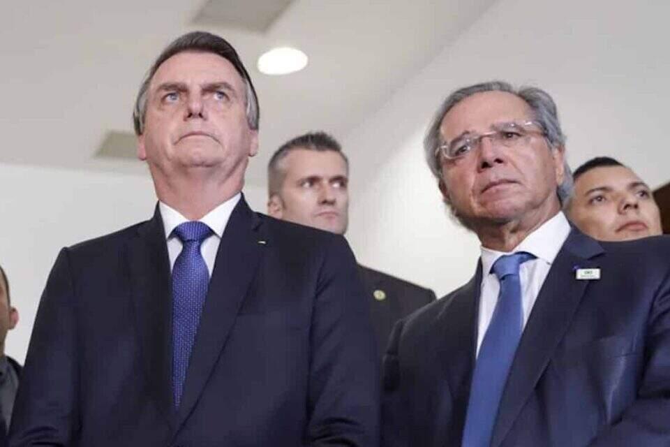 Presidente Jair Bolsonaro e o ministro Paulo Guedes. Foto: Governo de São Paulo