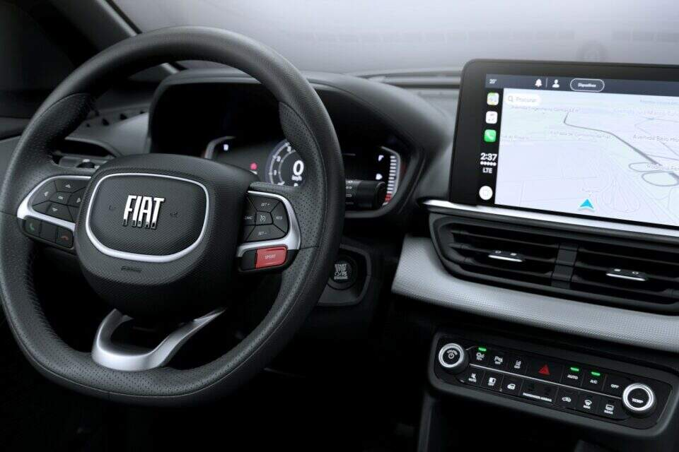 Interior do Fiat Pulse.